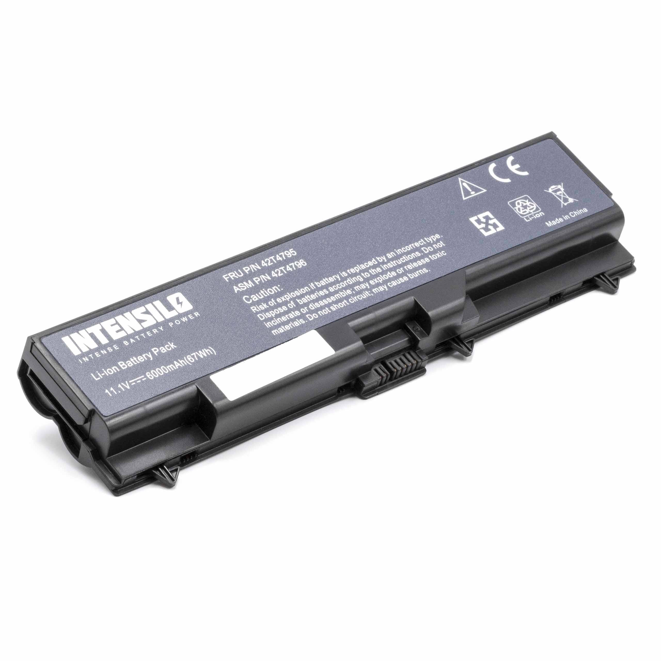 battery replaces 42T4795 for laptop (6000mAh, 10 8V, Li-Ion, black)