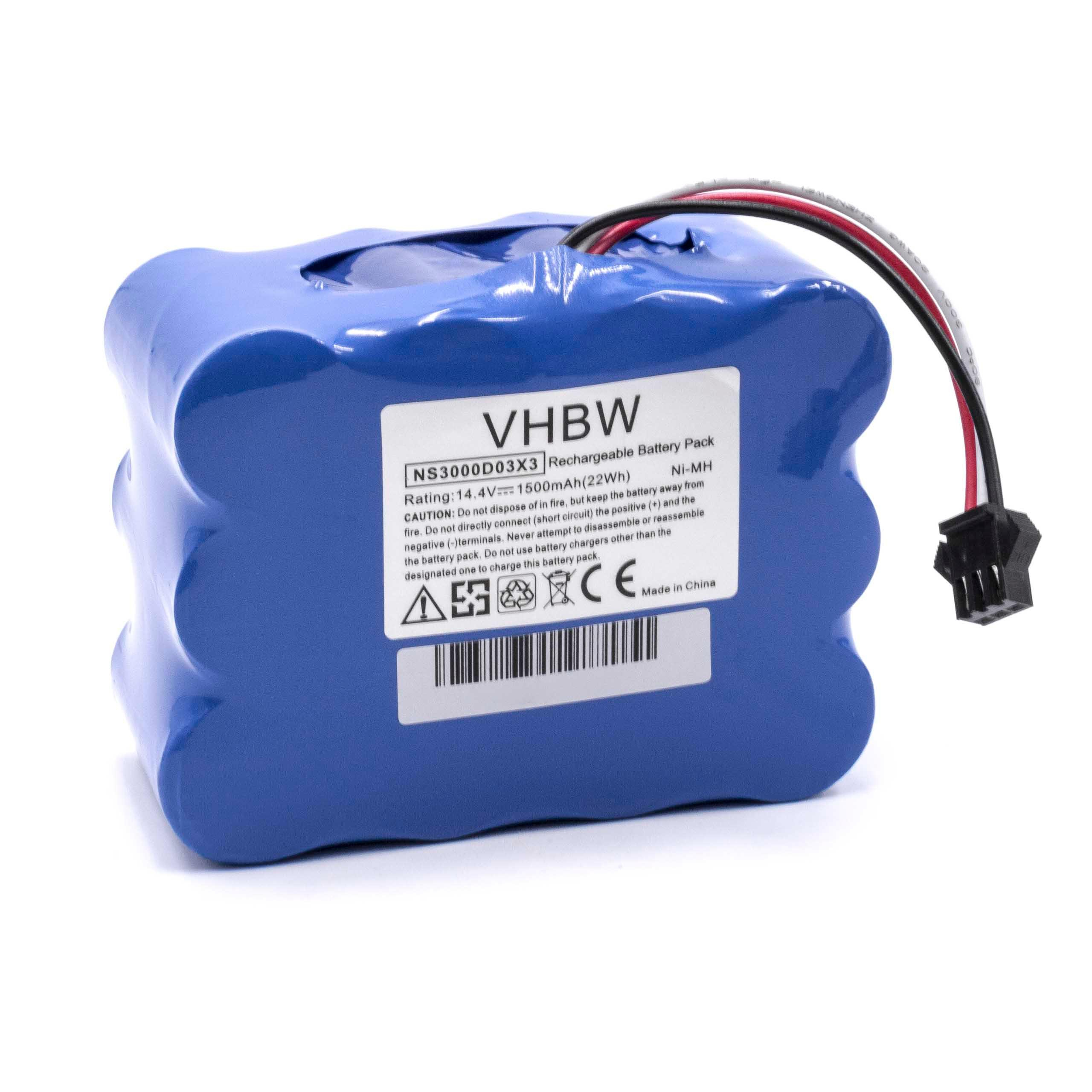 14.4V INTENSILO NiMH battery 4500mAh YX-Ni-MH-022144. for Home Cleaner Klarstein Cleantouch robotic vacuum cleaner replaces NS3000D03X3