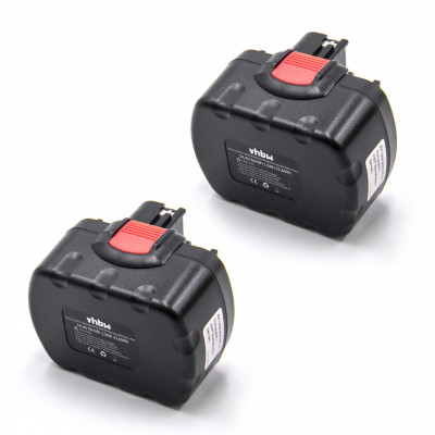 2x NiMH-battery 1500mAh 14.4V - for electric power tools replaces Bosch 2 607 335 686, 2 607 335 694, 2 607 335 699, 2 607 335 711, 2 610 909 013