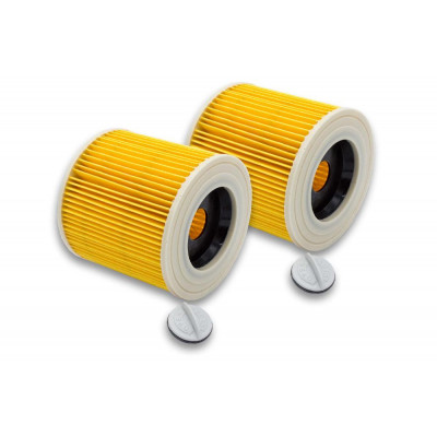 vhbw   2x vacuum cleaner filter   replaces 6.414-547.0, 6.414-552.0, 6.414-772.0, 9.755-260.0Rowenta RS-RU7501 , cartridge filter