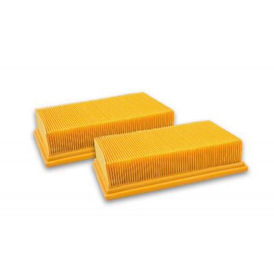 vhbw   2x vacuum cleaner filter   replaces Kärcher 6.907-455.0 , flat pleated filter
