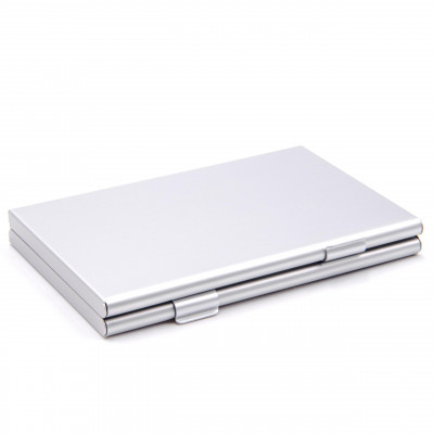 Carrying Case Holder Box aluminum silver holds