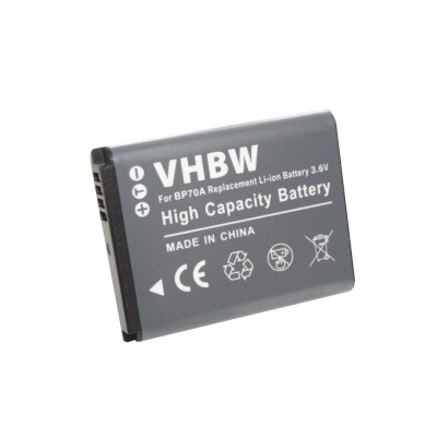 Li-Ion-battery - 500mAh (3.6V) - for camera, digicam, DSLR replaces Samsung BP70a