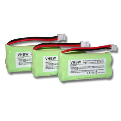 3 x NiMH-battery- 700mAh (2.4V) - suitable for wireless landline phone replaces 220382C1, 220436C1, 41AAAH2BMX, 55AAAHR2BMX, C30852D1640X1