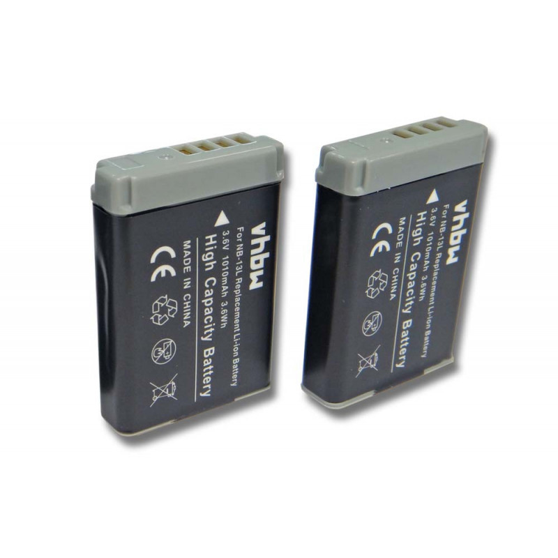 2x BATTERY 1010mAh for Canon Powershot G9X Mark II