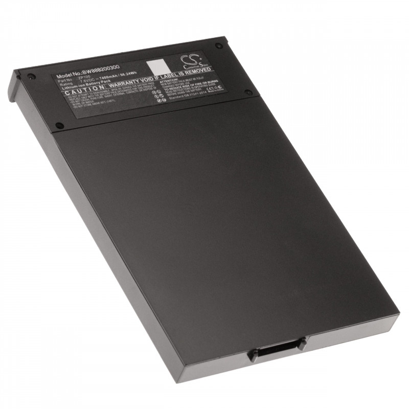 Li-Ion Battery replaces Ziosk ZP100 for NFC Smart Card Reader (7400mAh,  7 6V, Li-Ion)