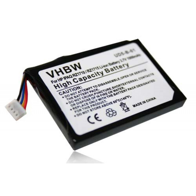 Li-Ion-battery - 1000mAh (3 7V) - for GPS, navigation system, sat, nav HP  IPAQ RZ1717