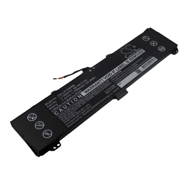 battery suitable for Lenovo Erazer Y50-70-ISE laptop (7200mAh, 7 4V,  Li-Ion, black)