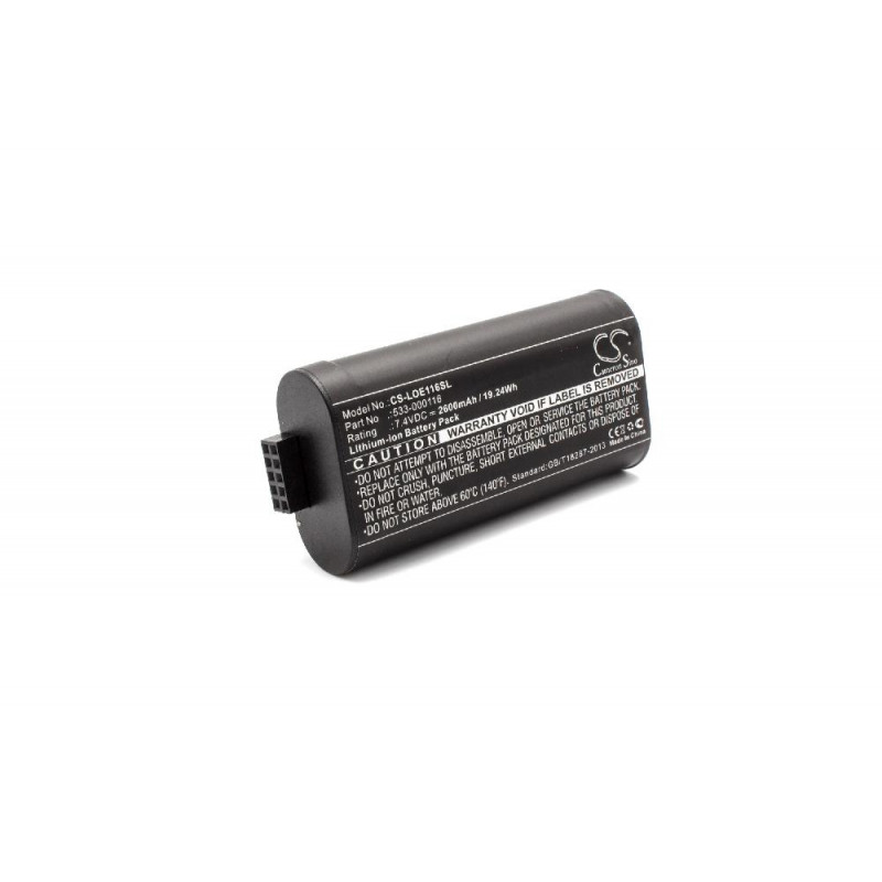 Battery replaces Logitech 533-000116, 533-000138 for Speakers(2600mAh,  7 4V, Li-Ion)