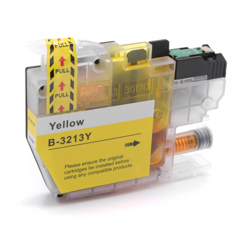 vhbw ink cartridge yellow replaces Brother LC-3213Y, LC3213Y - printer  cartridge 7ml+chip