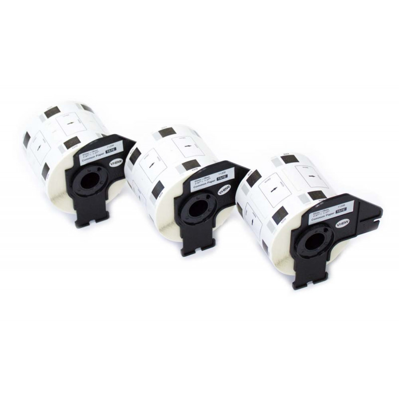 10x Label Rolle fuer BROTHER P-touch QL-500 QL-500A Etikett: 62mm x 29mm