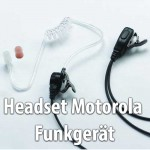Headset für Motorola Funkgerät