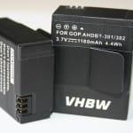 VHBW Akkus mit einer Kapazität von 1180mAh