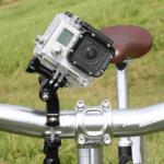 GoPro am Lenker befestigt
