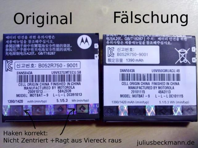 Motorola Akkus im Vergleich Bild:juliusbeckmann.de