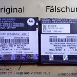 Gefälschte Samsung Originalakkus